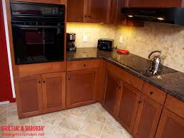 Kitchen Floors With Cherry Cabinets Chicago Brick Flooring With Granite Counter Tops New Cherry