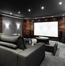 best finished basement ideas with home theater wood trim design
