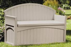 Suncast Patio Storage Bench Resin Outdoor Bench With Storage Outdoor Room Ideas