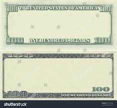 Bank Note Template clear 100 dollar banknote template design stock illustration