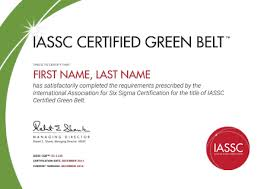 Resume With Picture Sample by Green Belt Certification International Association For Six Sigma