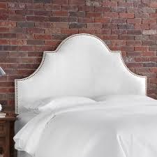 buy velvet high arch panel headboard size queen color white
