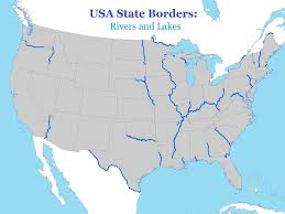Map Of The United States With Rivers by Usa State Borders Rivers And Lakes On The Road Pinterest