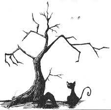 blackcat tim burton style p by cityzensoul on deviantart