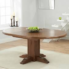 Extended Dining Table Trina Dark Solid Oak Round Extending Dining Table Robson Furniture