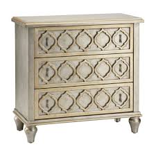 silver moroccan 3 drawer accent chest kirklands
