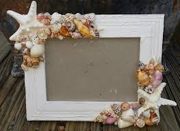 Rustic Nautical Home Decor Coastal Cottage Chic Seashell U0026 Starfish Frame Smooth Beach Shells