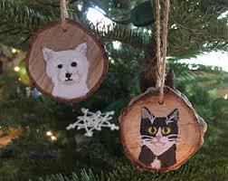 painted pet ornament etsy