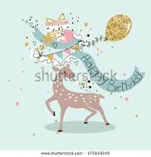 greeting card deer stock vector 475500472 shutterstock