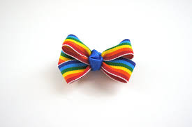 Creature Comforts Grooming Rainbow Dog Hair Bow By Luckydoglove On Etsy 4 00