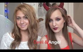 devil and angel makeup diy horns and halo youtube