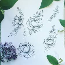 large flower tattoo designs peonies tattoo sketch draw my sketches pinterest peonies