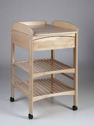 wooden changing table on casters anna lux troll nursery