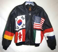 sport biker jacket vintage phase 3 world flags leather jacket biker streetwear zip