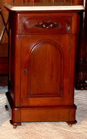 Antique Nightstands With Marble Top C1870 Victorian Nightstand Walnut Wh Marble Top Fruit For Sale
