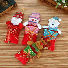 home decor free shipping 2018 merry christmas candy bag snack packet children household kid