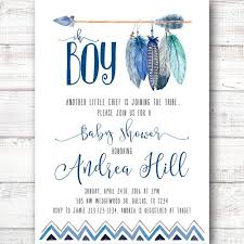 aztec tribal southwest baby shower invitation by 21willow