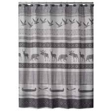 Gray And Brown Shower Curtain - gray shower curtains shower accessories the home depot