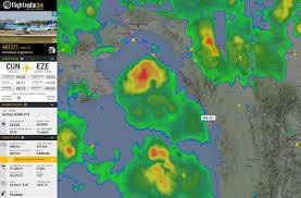 Doppler Weather Map Welcoming Weather To Flightradar24 U2013 Flightradar24 Blog