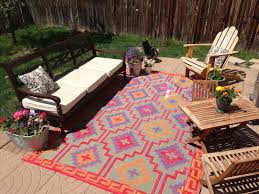 recycled plastic rugs round creative rugs decoration