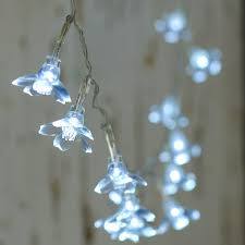 battery operated clear flower bulb string lights lighting