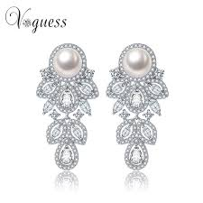 earrings brands voguess 2017 trends brands cz paved simulated pearl