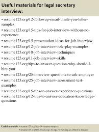 Secretary Resume Top 8 Legal Secretary Resume Samples
