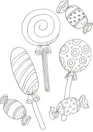 Coloriage De Bonbon  Dessinsite