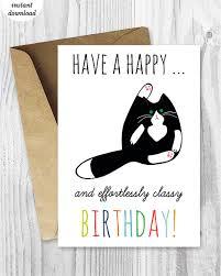 Cat Birthday Cards Printable Birthday Cards Funny Cat Birthday Cards Instant