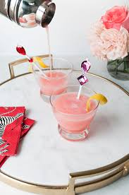 Coco Kelley Valentine U0027s Day Cocktail And Diy The Pink Lady Coco Kelley