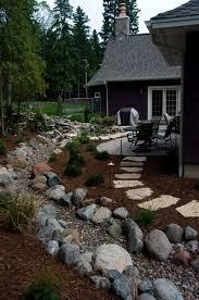 Best Garden River Images On Pinterest Dry Creek Bed - Backyard river design
