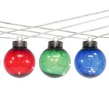 10ct ornaments transparent string lights multicolored