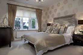 Platform Bed Led Ivory Tufted Leather Headboard Elegant Chandelier White Wall Paint