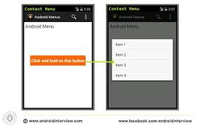 android menu android menu exle option meun and context menu code
