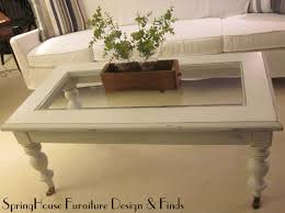 White Distressed Coffee Table White Glass Top Coffee Table Best Gallery Of Tables Furniture