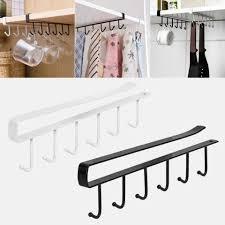 glass kitchen cupboard shelves kitchen cupboard storage rack cupboard shelf hanging hook organizer closet clothes glass mug shelf hanger hook