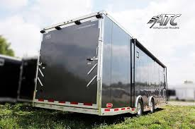 Cargo Trailer With Bathroom 32ft Atc Trailer Bathroom And Kitchen Mo Great Dane Trailers
