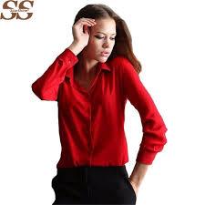 5 colors work wear 2017 women shirt chiffon blusas femininas tops