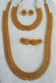 double necklace set images South indian double long necklace set wholesalers in mumbai india jpg