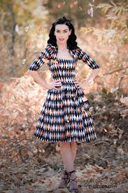 pinup couture jenny dress in halloween harlequin print pinup
