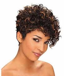 short haircuts for curly hair african american short hairstyles for curly hair with highlight