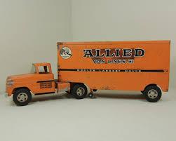 tonka fire truck toy allied van lines tonka truck toy tractor trailer vintage metal