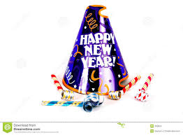 new years noise makers happy new year party hat stock images image 350824
