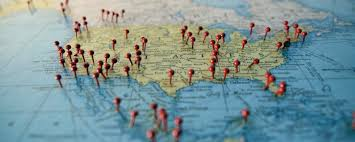 Map With Pins Map Values By Pin Size Espatial Braille Letters Deliver Smiles To