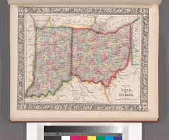 County Map Of Ohio by File County Map Of Ohio And Indiana Nypl B13663520 1510814 Jpg