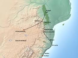 Swaziland Map Self Drive Kruger Natal Swaziland Jenman African Safaris