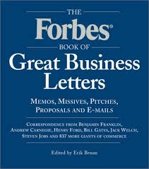the forbes book of great business letters erik bruun
