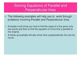 ppt solving equations of parallel and perpendicular lines