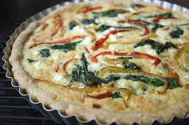 Spinach Quiche With Cottage Cheese by Roasted Pepper Quiche With Spinach And Feta Completely Delicious