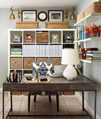 Office Wall Organizer Ideas Organize Home Office With Wall Shelves Cabinet And Basket Wicker